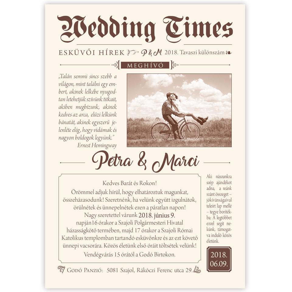 esküvői újság